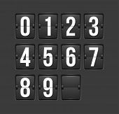 Countdown timer, white color mechanical scoreboard with different numbers poster