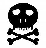 Skull and crossbones mark of the danger warning poster