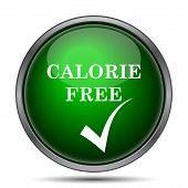 Calorie free icon. Internet button on white background. poster