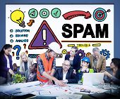 Spam Problem Virus Online Malware Hacking Concept poster