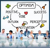 Optimism Positive Outlook Vibe Perception Vision Concept poster
