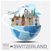 Switzerland Landmark Global Travel And Journey Infographic Vector Design Template poster
