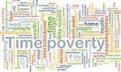 Background concept wordcloud illustration of time poverty poster