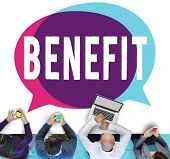 Benefit Charity Income Profit Value Wages Welfare Concept poster