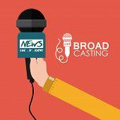 Broadcasting digital design, vector illustration eps 10 poster