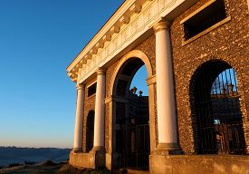 Mausoleum West Wycombe Hill Buckinghamshire UK at Sunrise