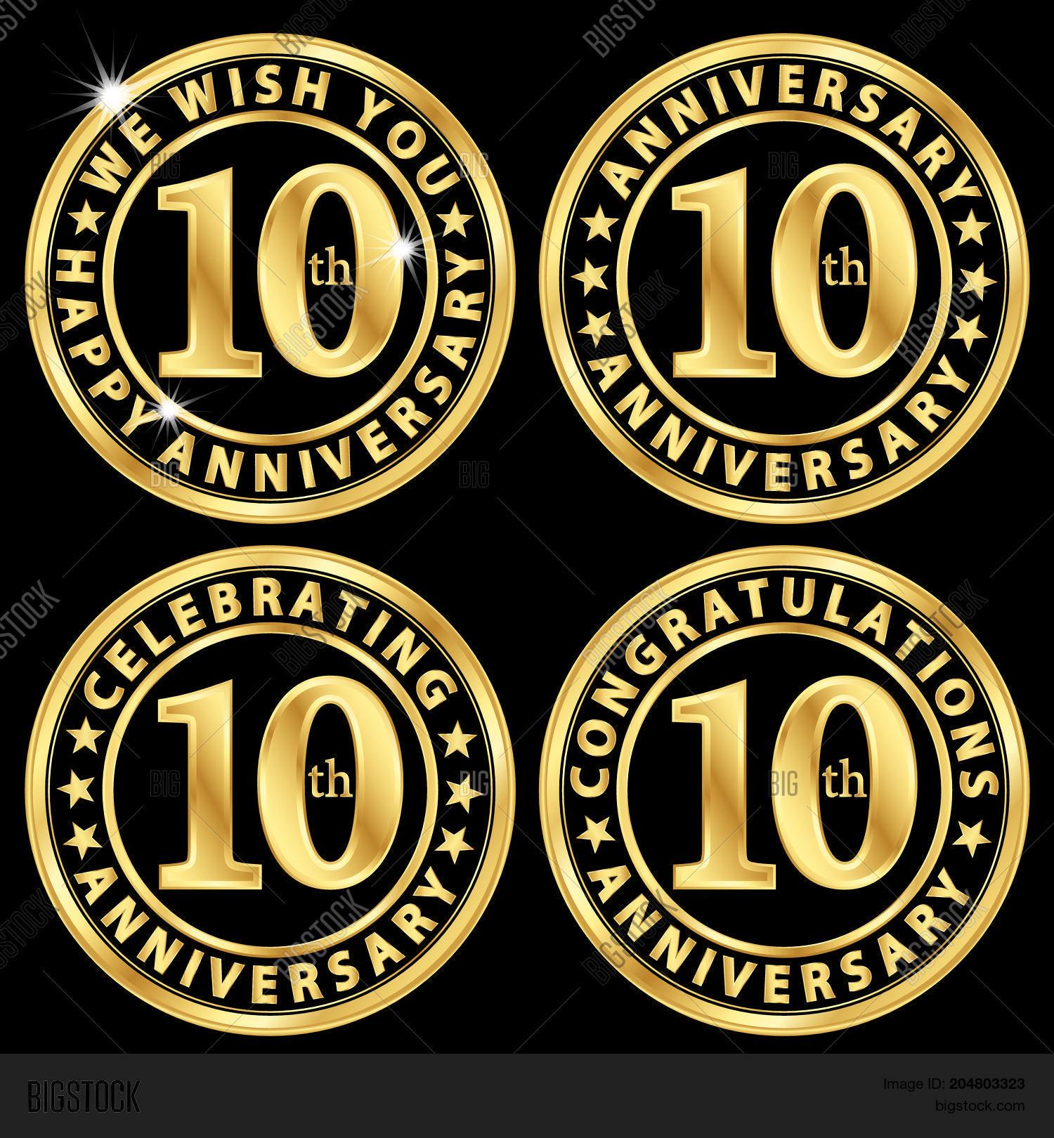 10th Anniversary Vector Photo Free Trial Bigstock