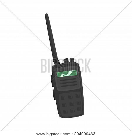 Portable handheld radio cartoon vector Illustration on a white background