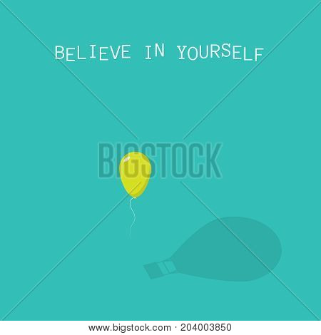 Believe in yourself. Abstract air balloon illustration