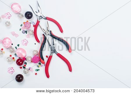 Tools With Beads And Wire For Craft