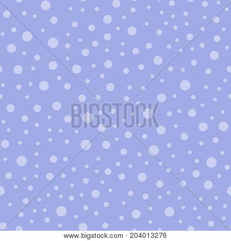 Light Polka Dots Seamless Pattern On Purple Background. Pleasant Classic Light Polka Dots Textile Pa