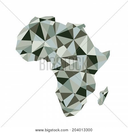 Map of Africa. Isolated vector illustration. Map of the African continent. Africa silhouette.
