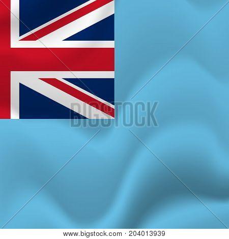Fiji waving flag. Waving flag. Vector illustration.
