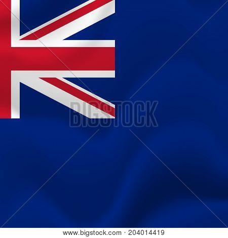 Anguilla waving flag. Waving flag. Vector illustration.