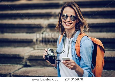 Woman Tourist In The City