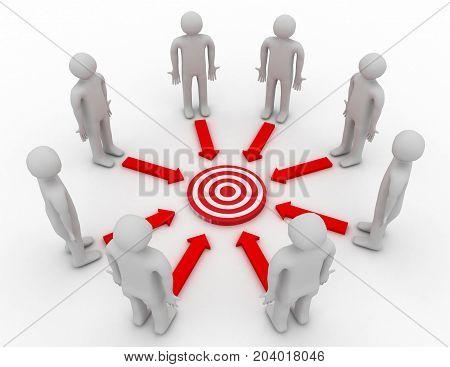 Target Motivation Concept . 3D Rendered Illustration