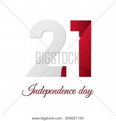Malta independence day. Waving flag. Vector illustration.