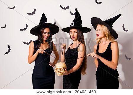 Diabolic, Satanic, Devil, Hex, Wiccan Exorcist Paranormal Ritual, Dark Spirits Culture, Three Sorcer