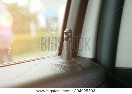 Inner car locks,Inner door handle modern black car
