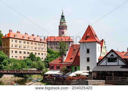 Ceski Krumlov Old Town In Czech Republic