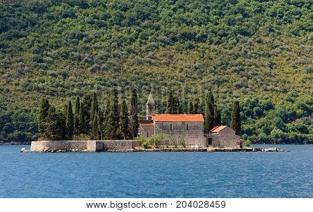 Island of Saint George (dead island) is one of the two islets off the coast of Perast in Bay of Kotor until the 19th century the famous captains of Perast were buried on this island