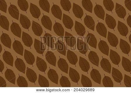 tobacco leaf on brown background - vector pattern