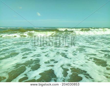 sea wave ocean crash, rip curl, weather, giant, flow, energy, sky