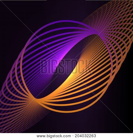 Abstract cosmic, twisting lines background. Nano technology structure, visual effects