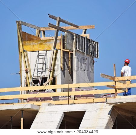 Construction of a new building in the city