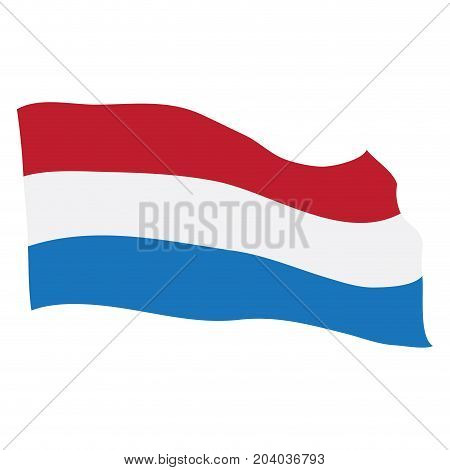 Isolated flag of the Netherlands on a white background, Vector illustration