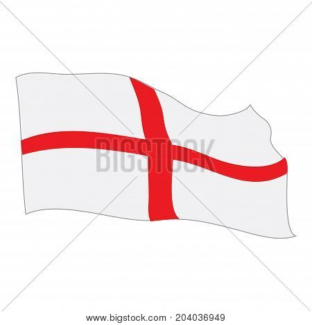 Isolated flag of England on a white background, Vector illustration