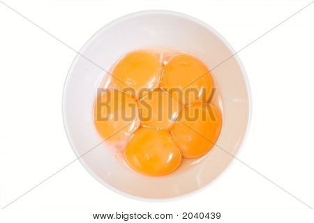 Egg Yolks In A Bowl