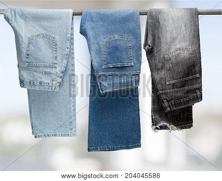 Hanging jeans clothes rack for sale flea market street market market stall