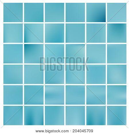 Blue abstract background. Blur gradient mesh. Set