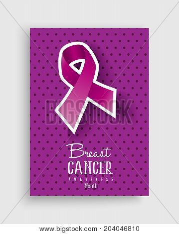 Breast Cancer Awareness Pink Ribbon Poster Design