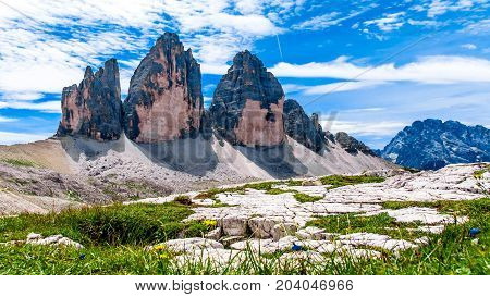 The Tre Cime di Lavaredo (Italian for