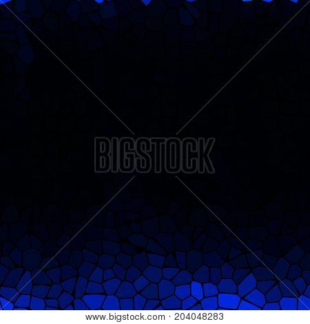 Dark black empty background for light text with blue mosaic pieces decor
