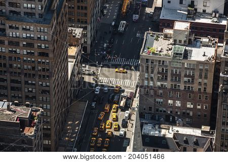 Streets And Roofs Of Manhattan