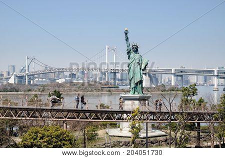 Statue Of Liberty At Odaiba Island.tokyo, Japan