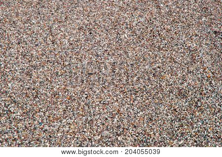 colorful gravel abstract background with gray and brown tone