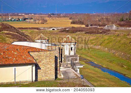 Town Of Palmanova Defense Walls Trenches And Landmarks