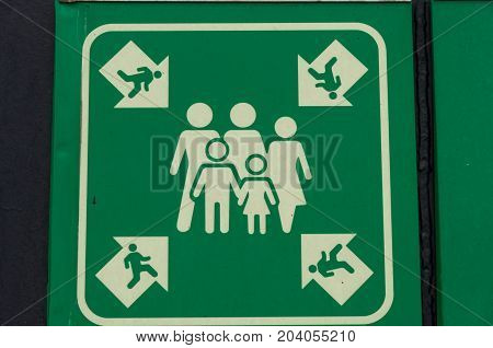 Evacuation Meeting Point Sign