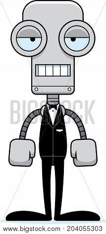 Cartoon Bored Groom Robot