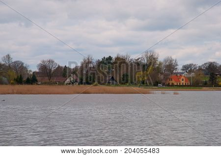 Countryside Village Near Praesto Fjord In Denmark