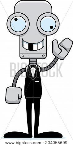 Cartoon Silly Groom Robot