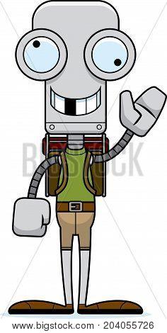 Cartoon Silly Hiker Robot