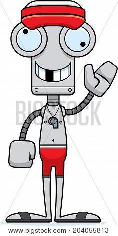 Cartoon Silly Lifeguard Robot