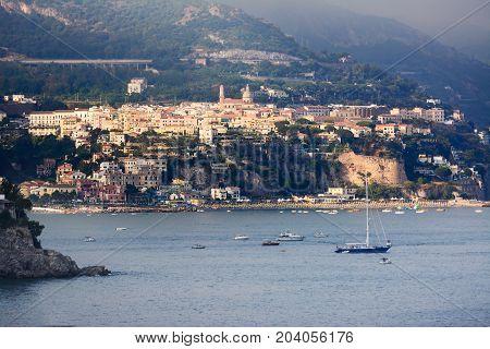 Sunset over Vietri sul Mare in the Amalfi Coast