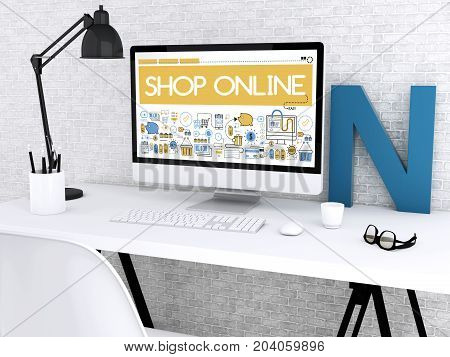 3D Computer With Words Shop Online.