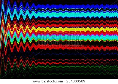 Glitch psychedelic background. Old TV screen error. Digital pixel noise abstract design. Photo glitch. Television signal fail. Technical problem grunge wallpaper. Colorful noise. TV game